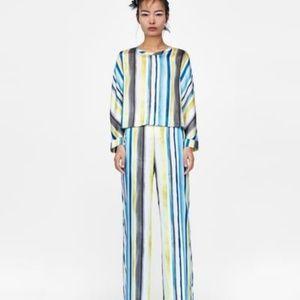 NWT Striped Multi colored Zara Pants